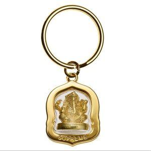 Supreme New York Ganesh Keychain Gold